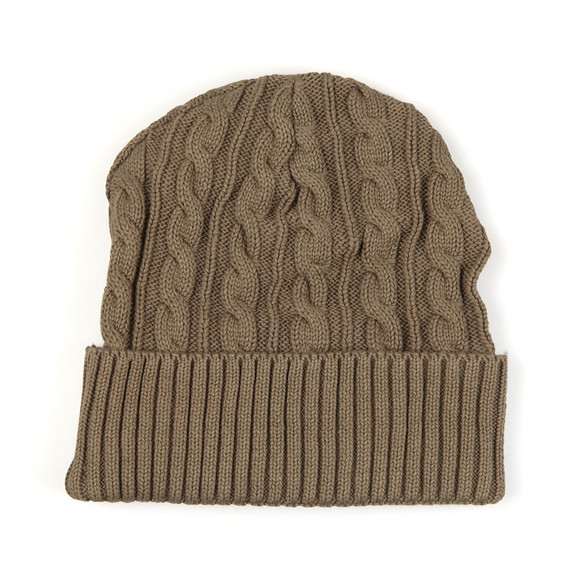 Sik Silk Mens Green Cable Knit Beanie main image