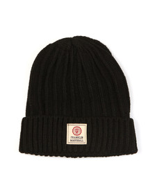 Franklin & Marshall Mens Black Knitted Hat