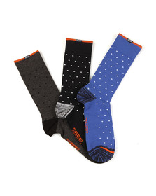 Superdry Mens Blue City Sock Box Triple Pack