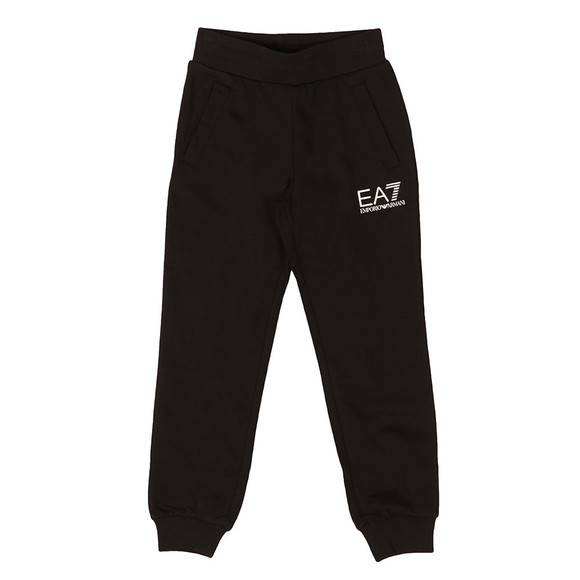 EA7 Emporio Armani Boys Black Boys Small Logo Sweatpant main image