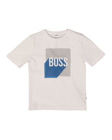 Boss Boys White Graphic T Shirt