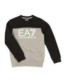 EA7 Emporio Armani Boys Grey Boys Large Logo Crew Sweatshirt
