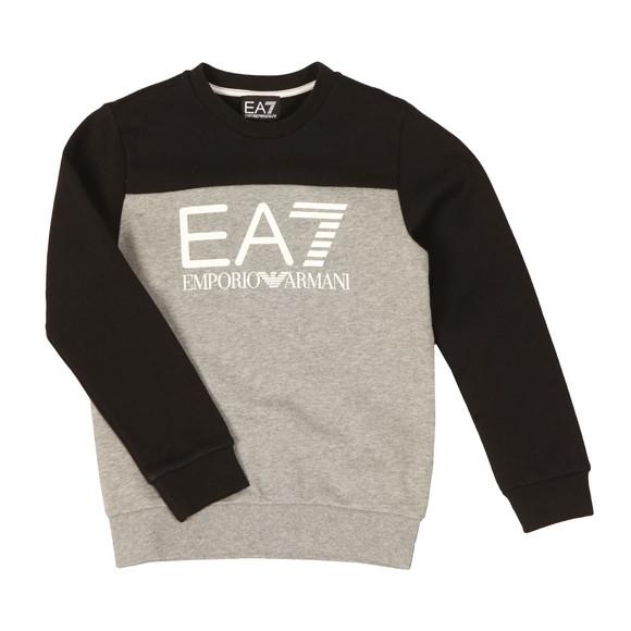 EA7 Emporio Armani Boys Grey Boys Large Logo Crew Sweatshirt main image