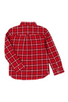 Lyle And Scott Junior Boys Red Flannel Shirt