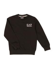 EA7 Emporio Armani Boys Black Crew Neck Sweatshirt