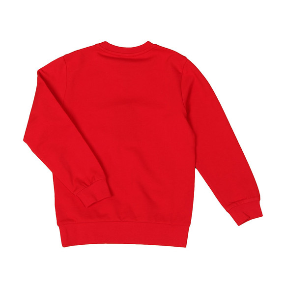 EA7 Emporio Armani Boys Red Crew Neck Sweatshirt main image