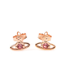 Vivienne Westwood Womens Bronze Nano Solitaire Earrings