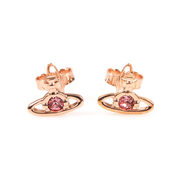 Vivienne Westwood Womens Bronze Nano Solitaire Earrings main image