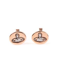 Vivienne Westwood Womens Bronze Embossed Logo Stud Earring
