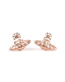 Vivienne Westwood Womens Bronze Harlequin Bas Relief Earring