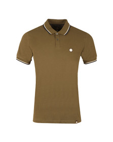 Pretty Green Mens Green S/S Barton Tipped Polo