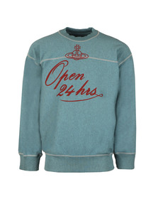 Vivienne Westwood Anglomania Mens Blue 24 Hours Print Square Sweater