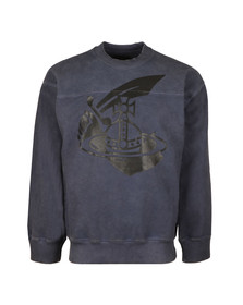 Vivienne Westwood Anglomania Mens Blue Arm & Cutlass Print Square Sweat