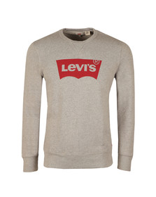 Levi's Mens Grey Batwing Logo Sweatshirt