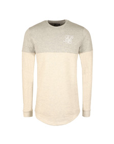 Sik Silk Mens White Cut & Sew Crew Sweat