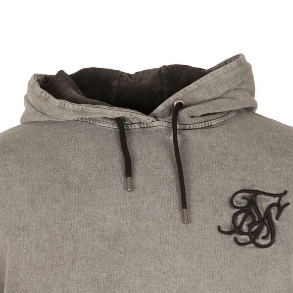 Sik Silk Mens Grey Drop Shoulder Overhead Hoodie main image