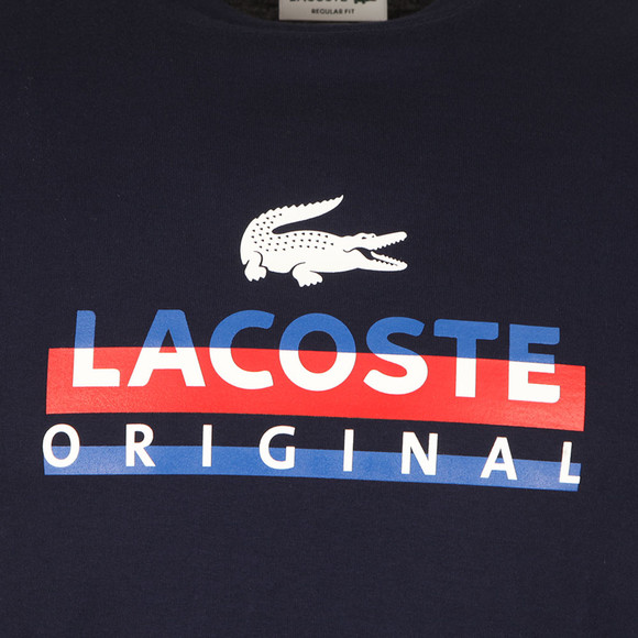 Lacoste Mens Blue S/S TH6996 Logo Tee main image