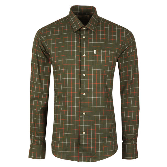 Barbour Countrywear Mens Green L/S Brampton Shirt main image