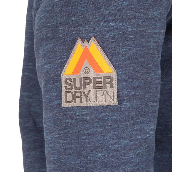 Superdry Mens Blue Orange Label Winter Ziphood main image