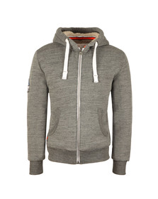 Superdry Mens Grey Orange Label Winter Ziphood