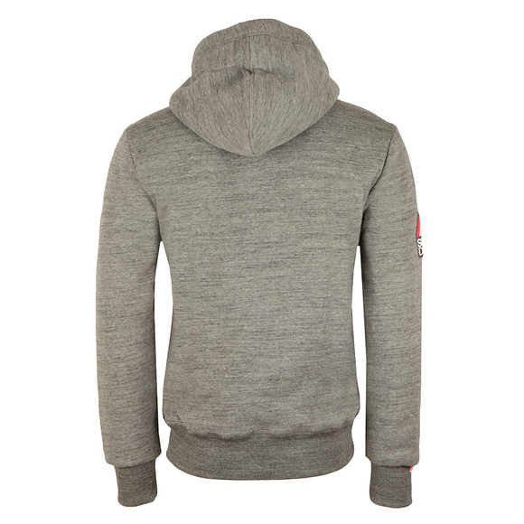 Superdry Mens Grey Orange Label Winter Ziphood main image