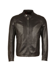Hugo Mens Black Lank1 Leather Jacket