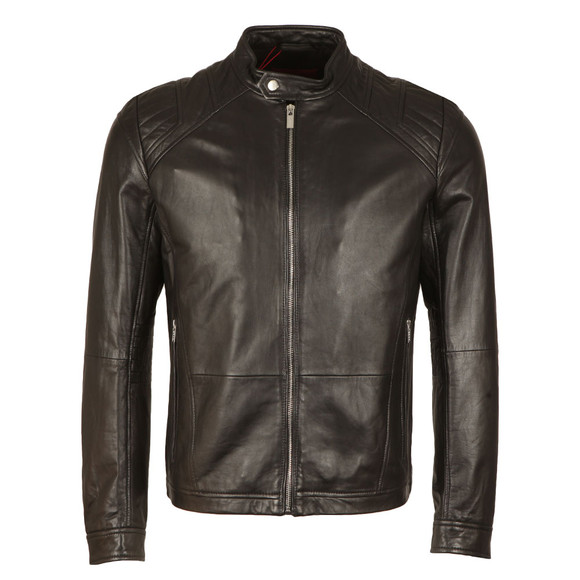 Hugo Mens Black Lank1 Leather Jacket main image