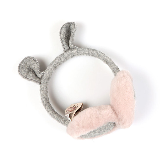 Ugg Girls Grey Novelty Wool Earmuffs main image