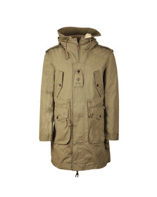 Pretty Green Mens Green Grosvenor Heavyweight Parka