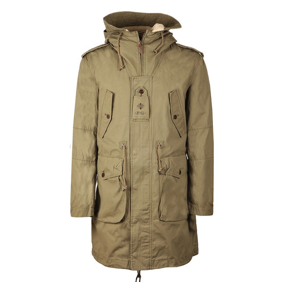 Pretty Green Mens Green Grosvenor Heavyweight Parka main image