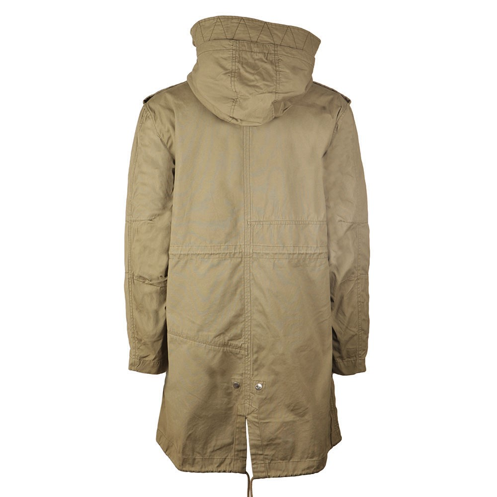 1f85ec03526132 Pretty Green Mens Green Grosvenor Heavyweight Parka main image. Loading zoom