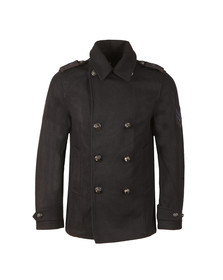 Pretty Green Mens Blue Bourdon Peacoat