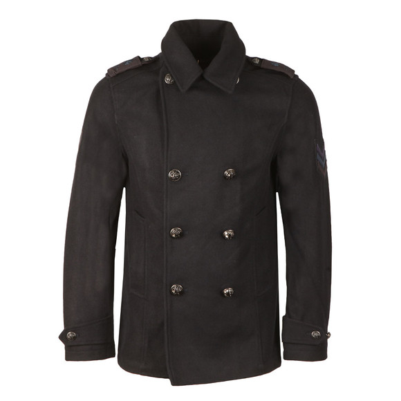 Pretty Green Mens Blue Bourdon Peacoat main image