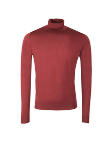 John Smedley Mens Red Cherwell Roll Neck Jumper