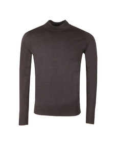 John Smedley Mens Grey Harcourt Mock Turtle Jumper