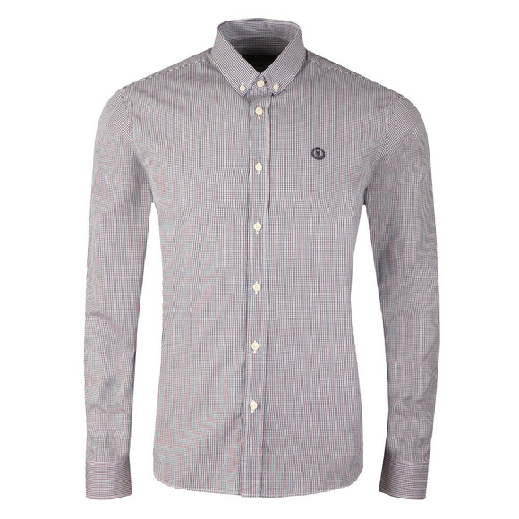 Henri Lloyd Mens Blue L/S Ragnall Gingham Shirt main image