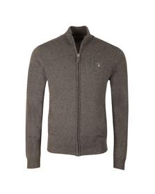 Gant Mens Grey Lambswool Full Zip Cardigan