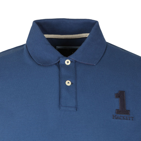 Hackett Mens Blue New Classic Plain Polo Shirt main image