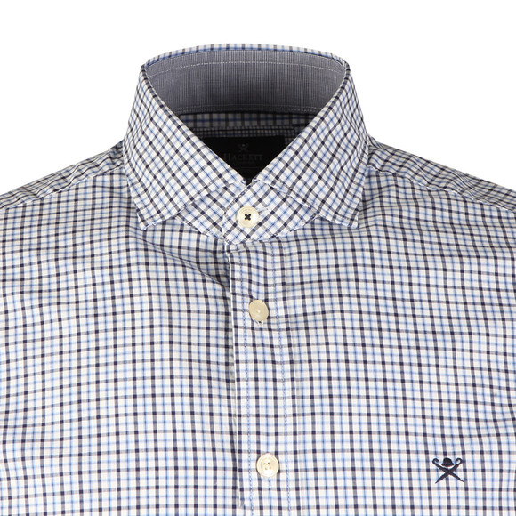 Hackett Mens Blue 2 Colour Gingham LS Shirt main image