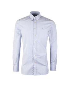 Hackett Mens White L/S Classic Fine Stripe Shirt