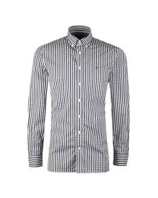 Hackett Mens Blue L/S Classic Check Shirt