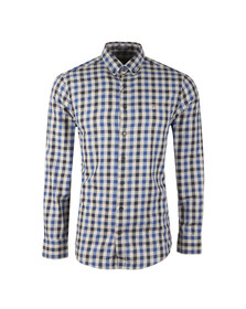 Gant Mens Blue Nordic Plaid Gingham LS Shirt