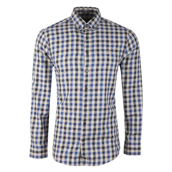 Gant Mens Blue Nordic Plaid Gingham LS Shirt main image