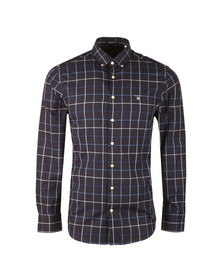 Gant Mens Blue Tech Prep Oxford Check LS Shirt