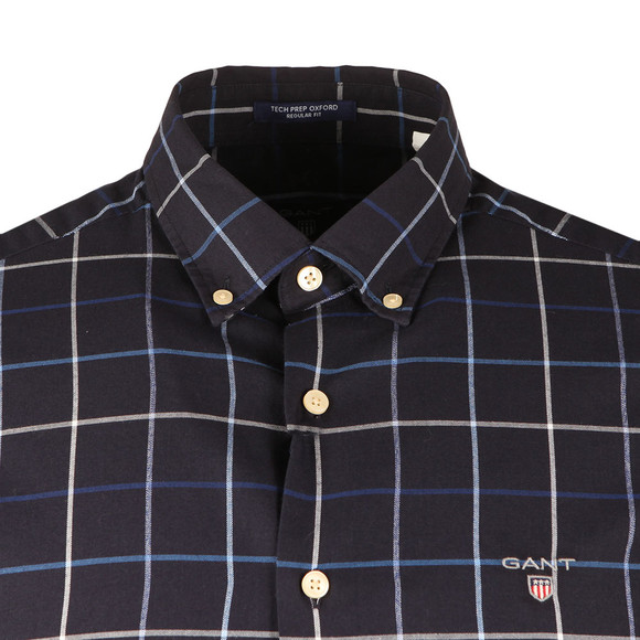 Gant Mens Blue Tech Prep Oxford Check LS Shirt main image