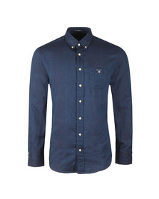 Gant Mens Blue Double Face Check LS Shirt