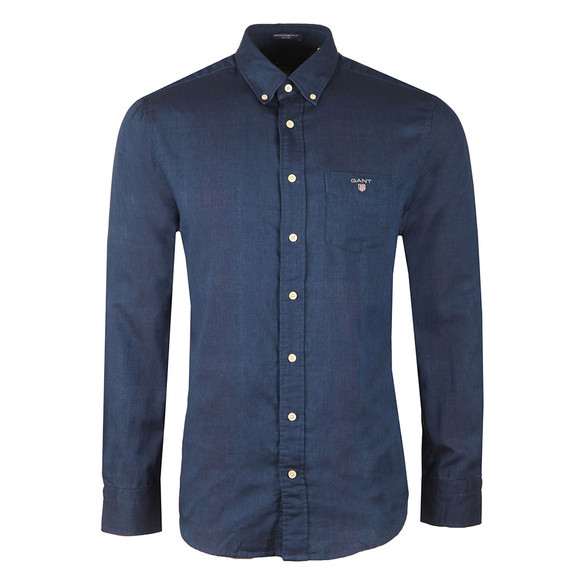 Gant Mens Blue Double Face Check LS Shirt main image