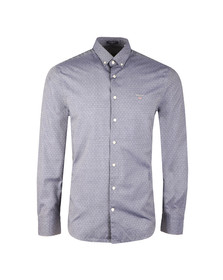 Gant Mens Blue Tech Prep Twill Dobby LS Shirt