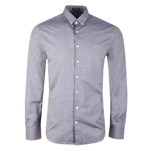 Gant Mens Blue Tech Prep Twill Dobby LS Shirt main image