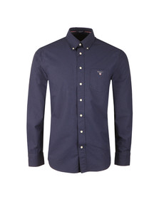 Gant Mens Blue The Printed Oxford Dot LS Shirt